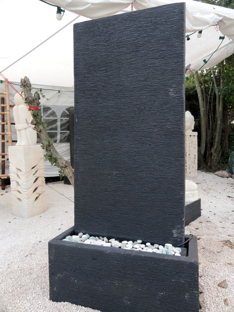 fontaine mur d 39 eau noir 1 50m makasihdeco. Black Bedroom Furniture Sets. Home Design Ideas